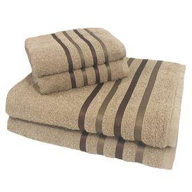 toalha de banho toalha de banho monaco jogo com 4 pecas 2 banho e 2 rosto bege p 1581615166581