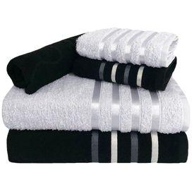 toalha de banho jogo de toalha 5 pecas 2 banho 2 rosto 1 piso preta e branca p 1581613301577