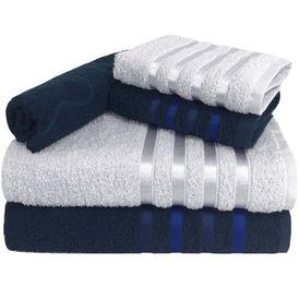toalha de banho toalha de banho monaco jogo com 5 pecas 2 banho 2 rosto 1 piso azul p 1581599997499