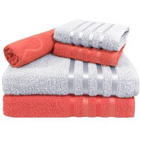toalha de banho toalha de banho monaco jogo com 5 pecas 2 banho 2 rosto 1 piso salmao p 1581593891102