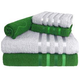 toalha de banho toalha de banho monaco jogo com 5 pecas 2 banho 2 rosto 1 piso verde p 1581612445160